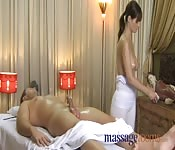 Erotic massage session