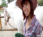 Adorable cowgirl fucking for money
