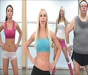 Exercising their nice bodies