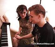 Transando com o professor de piano
