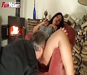 Dirty old man fuck session