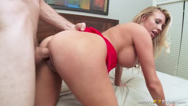 Sexy busty blonde pornstar getting pounded